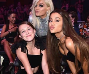 ariana grande, millie bobby brown, and bebe rexha image