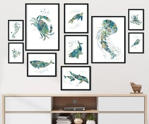 etsy, ocean art, and kids wall art image