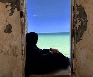 allah, beach, and islamic image