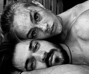 black and white, model, and couple image