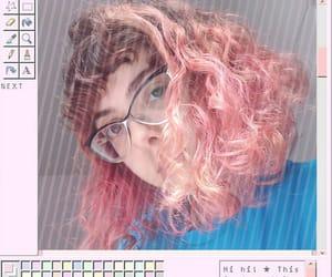 curls, orange, and girl image