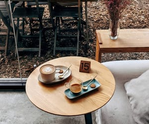 cafe, morning, and coffee shop image