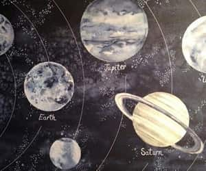 article, moon, and saturn image