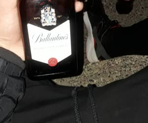 alcohol, black, and dark image