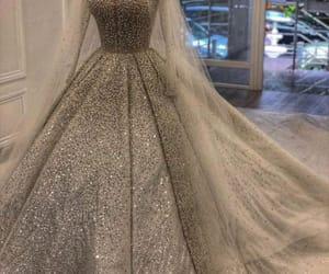 bride, wedding dress, and white dress image