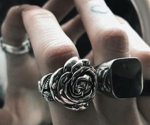 ring, rose, and silver image