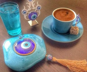 blue, colors, and coffee image