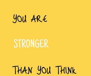 yellow, strong, and quotes image