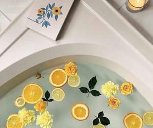 yellow, bath, and aesthetic image
