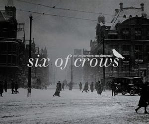 crows, goth, and love image