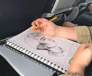 art, drawing, and plane image