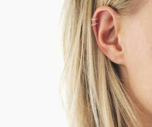 blonde, ear, and piercing image