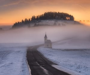 winter, church, and season image
