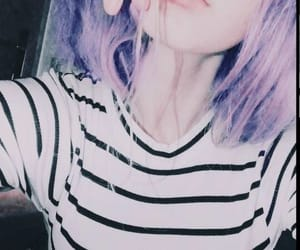 anime, colors, and purple hair image