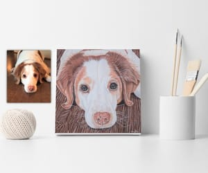 art, etsy, and dog image