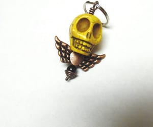 day of the dead, etsy, and skull keychain image