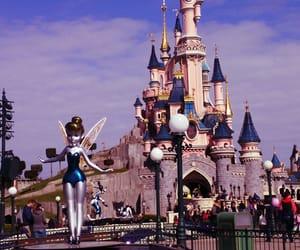 castle, disney, and disneyland image