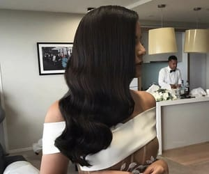 black hair, hair, and hairstyle image
