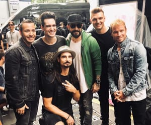 backstreet boys, brendon urie, and nick carter image