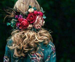 denim, fashion, and flower image