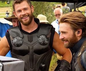 captain america, chris evans, and thor image