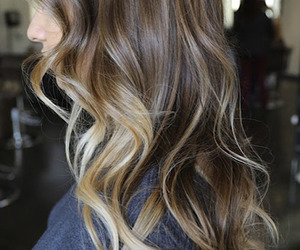 hair, ombre, and style image