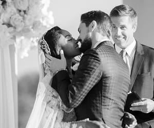 bride, couple, and interracial image