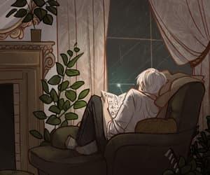 anime, art, and rain image