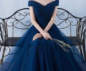 blue, fashion, and gown image