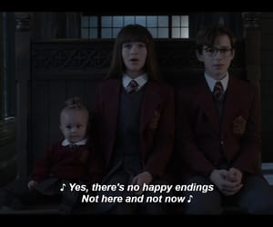 A Series of Unfortunate Events, no happy endings, and baudelaire children image