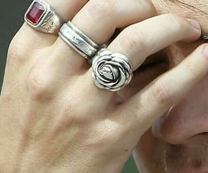 hand, rings, and Harry Styles image
