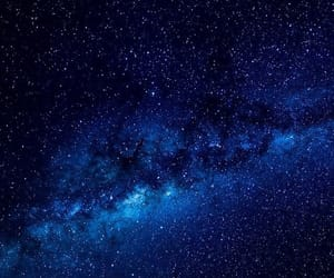 blue, space, and galaxy image
