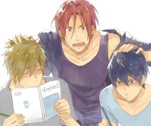 anime, free!, and rin image