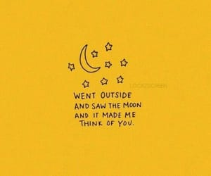 quotes, moon, and yellow image