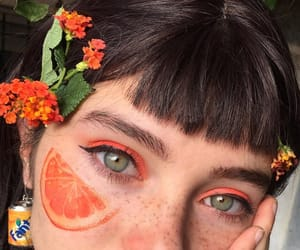 girl, orange, and aesthetic image