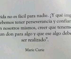 marie curie, ciencia, and frases image