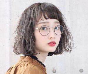 asian, fringe, and long image