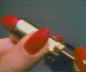red, lipstick, and aesthetic image