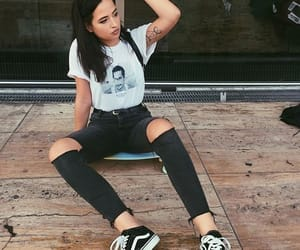 jeans, outfit, and vans image