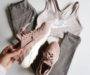 fitness, nike, and outfit image