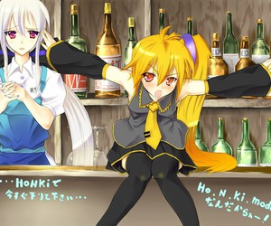 albino, yowane haku, and alcohol image