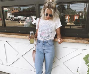 clothes, sunglasses, and mom jeans image