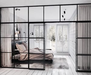 bed, glass, and home image