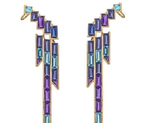 blue, earrings, and fashion image