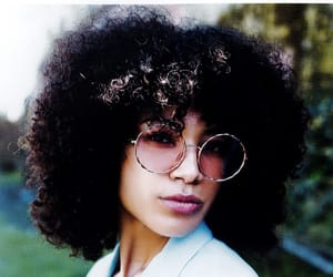 curly hair, glasses, and natural hair image