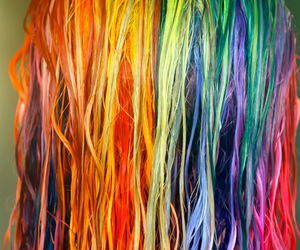 arcoiris, blond, and color hair image