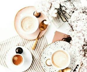 coffee, tea, and flowers image