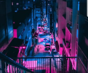 lights, neon, and pink image