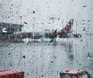 airplane, photography, and rain image