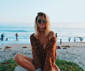 beach, fashion, and blonde image